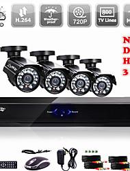 liview® ahd dvr / HVR / NVR 3 in 1 con sistema di telecamere 800tvl