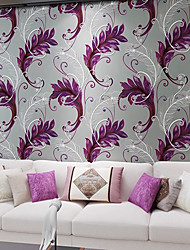 Contemporary Wallpaper Art Deco 3D Creative Peacock Feathers Wallpaper Wall Covering Non-woven Fabric Wall Art