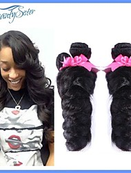 Rosa Hair Virginal Peruvian Human Hair Weaves Loose Wave Mixed 4Bundles Lot 7A Grade Color1B