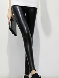 2015 Lady Leggings PU leather Pants Sexy Leggings for Women High Waist Pants  Plus Velvet Elastic pants