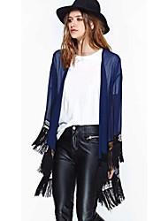Women's Lace Blue T-shirt , Off Shoulder Long Sleeve