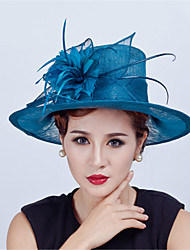 Sinamay Feather  Flowers  Derby Hat Fascinators Wedding Church Hat for Women