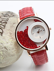 Geneve Women's Leather band Analog Quartz Casual Watch(Assorted Colors)