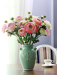 The Living Room Floor Bedroom Table Decoration Polyester / Plastic Camellia Hydrangeas Artificial Flowers