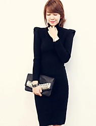Women's Solid Black Dress(cotton)