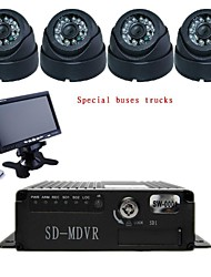Bus lorries 4-way card SD card vehicle DVR recorders on-board vehicle traveling data recorder