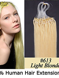 Cheap Hair No Tangle And Shedding Free Hair Extensions Micro Ring Hair Extension Loop Hair Peruvian Virgin Human Hair