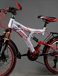 "21 Speeds 20"" Folding Mountain Bike Full Suspension Aluminium Alloy Fork Drivetrain Soft-tail Frame"