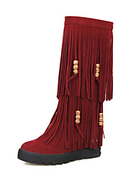 Women's Shoes Wedge Heel Round Toe Knee High  Boots More Colors available
