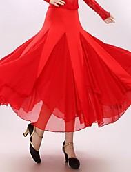Danse de Salon Robes et Jupes Femme Spectacle Fibre de Lait Au drapée 1 Pièce Jupe