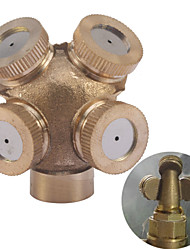 Garden Sprinklers Irrigation Fitting 4 Hole Brass Spray Nozzle
