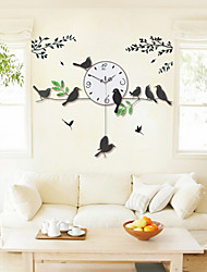 Creative Pendulum Magpie Fashion Metal Mute Wall Clock