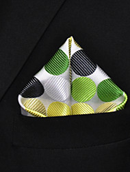 Men's Pocket Square Multicolor Light Green 100% Silk  Dress