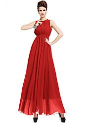 Women's Solid Red / Black Dress , Sexy Halter Sleeveless
