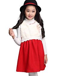 Girl's Black / White Dress / Skirt , Bow Cotton / Cotton Blend / Polyester Winter / Spring / Fall/Children's skirt