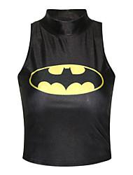 Women's Batman High Neck Crop Top with Sleeveless