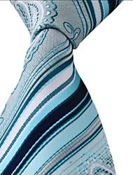 Men Colored Stripes Jacquard Silk Business Suit Necktie Tie
