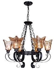 Umei arañas de luces de cristal ™ 6 sala de estar / dormitorio / sala de estudio tradicional / clásico / de la vendimia