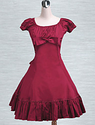 Cotton Fuchsia Red Ruffles Classic Lolita Dress