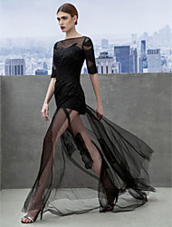 ts couture® formale Abend a-line Bateau Gericht Zug Tüll mit appliques / Seite Drapierungen Kleid