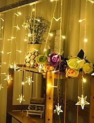Christmas  Star Curtain Ktv Bars Wedding Twinkle Waterfall Lights Decoration Lamps Waterproof String Light 3M