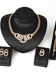GoldFoucs Women 4in1 Vintage/Party/Casual Alloy/Gemstone Crystal/Cubic Zirconia Necklace/Earrings/Bracelet/Ring Sets