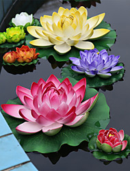 The Left Cylinder Decoration Polyester Lotus Artificial Flowers