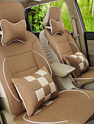 vlas autozitje deksel vier algemene milieubescherming ademende kussen zetel grootte van ongeveer 125 135 140 cm