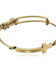 """Spiritual Armour"" Cross Expandable Wire Bangle Bracelet (Internal Diameter :65mm)"