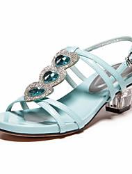 Meirie's Women's Leatherette Low Heel Sandals