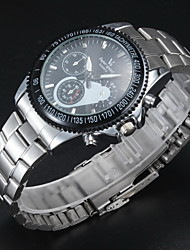 V6® Men's Stylish Racing Dial Steel Band Quartz Wrist Watch Cool Watch Unique Watch