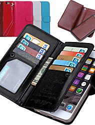 Para iPhone 8 iPhone 8 Plus iPhone 7 iPhone 7 Plus iPhone 6 iPhone 6 Plus Case Tampa Carteira Porta-Cartão Flip Corpo Inteiro Capinha Côr