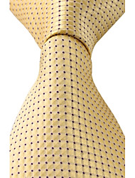 Blue Dots Yellow Jacquard Men Leisure Business Suit Necktie