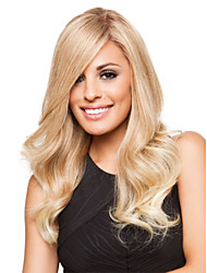 High Quality Synthetic Platinum Blonde Long Wavy Synthetic Hair Capless Wig