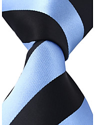 Black Blue Jacquard Necktie Business Leisure Men Adult Tie