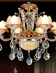 European Style Crystal pendant Simple Alloy Style Retro Villa lighting