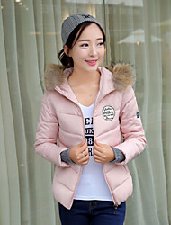 Qina Woman's Slim Baseball Clothes Hooded Down Jacket Winter