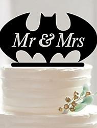 HOT NEW Fondant Cake Decorating Tools Personalized Wedding Mr & Mrs Acrylic Cake Topper Batman Superman Silhouette