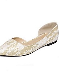 Women's Shoes Synthetic /  Flat Heel Ballerina Flats Wedding / Office & Career / Casual Pink / Gold