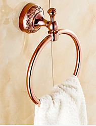 Towel Ring , Neoclassical Rose Gold Wall Mounted