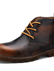 Men's Shoes Outdoor / Party & Evening / Casual Leather Boots Black / Brown