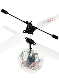 HCW520 Auto-induction Remote Control Flying Ball Toy with Music / Dazzle Color Light - Transparent + White