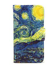 Étui pour Apple iphone 7 7 plus iphone 6s 6 plus cas couvrir le ciel étoilé pu coques en cuir pu pour iphone se 5s 5c 5 iphone 4s 4