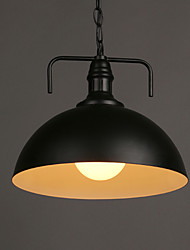 E27 30*26CM Nordic Line 1M American Country Industrial Semicircle Fashion, Wrought Iron Single Head Droplight  LED