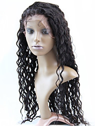 "10""-30""Brazilian Human Hair Front Lace Wigs Natural Color Deep Wave Human Hair Half Wig Hair"