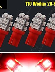 4 x T10 W5W 2 825 192 194 168 501 20 voitures SMD LED rouge côté coin ampoule 12v