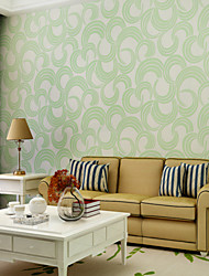 Contemporary Wallpaper Art Deco 3D Modern Circle Wallpaper Wall Covering Non-woven Fabric Wall Art