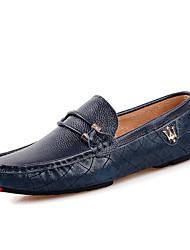 Zapatos de Hombre Mocasines Casual Cuero Negro / Azul