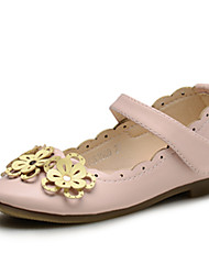 Girls' Shoes Wedding / Outdoor / Party &Casual Comfort / Round Toe / Closed Toe Leatherette Flats Pink / Ivory