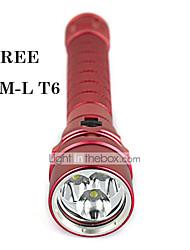 LT 2 2 Mode 3000 Lumens LED Flashlights 18650 Waterproof Cree XM-L T6